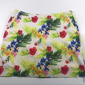 EP pro shorts size 16 stretch skorts floral